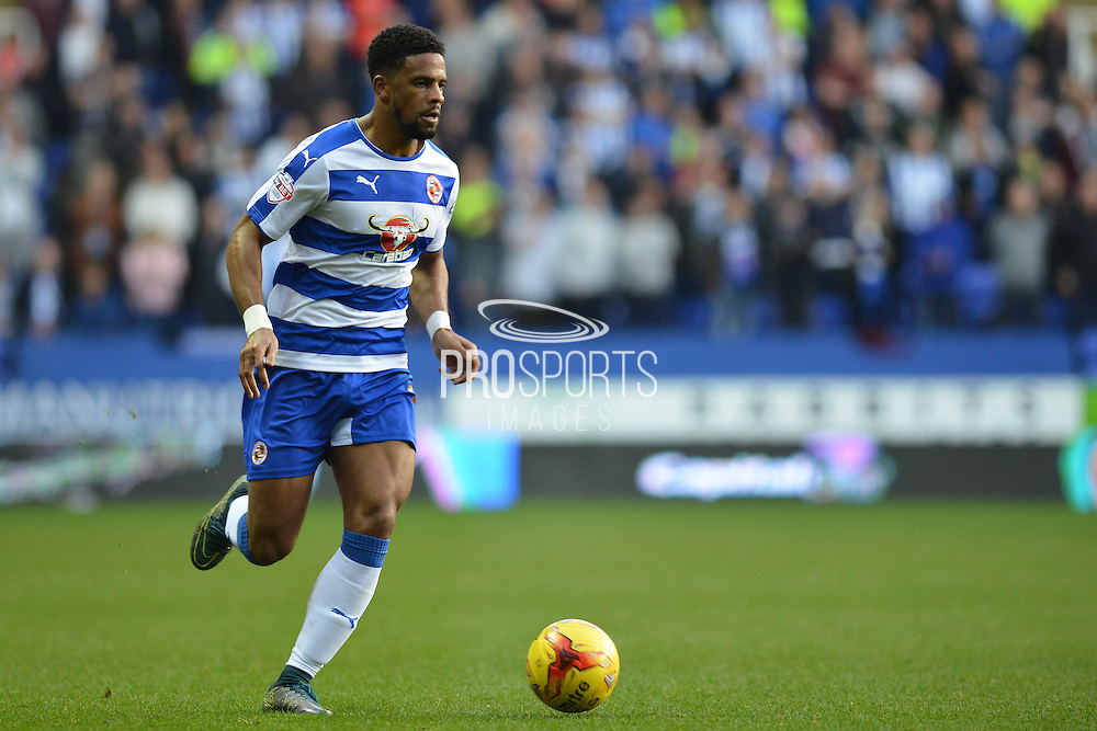 Reading's Garath McCleary about to cross the ball during the Sky Bet Championship match between Reading and Brighton and Hove Albion at the Madejski Stadium, Reading, England on 31 October 2015. Photo by Mark Davies.
