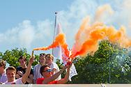 Eindhoven - Oranje Rood - Kampong  Heren, Hoofdklasse Hockey Heren, Seizoen 2017-2018, 05-05-2018, Halve Finale Playoffs, Oranje Rood - Kampong 1-1, Kampong wns, fans Oranje Rood <br /> <br /> (c) Willem Vernes Fotografie