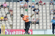 Tammy Beaumont of Southern Vipers brings up her half century with a six during the Women's Cricket Super League match between Southern Vipers and Yorkshire Diamonds at the Ageas Bowl, Southampton, United Kingdom on 8 August 2018.