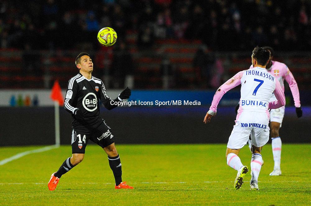 Raphael GUERREIRO  - 04.03.2015 - Evian Thonon / Lorient - Match en retard de la 26eme journee de Ligue 1 <br />Photo : Jean Paul Thomas / Icon Sport