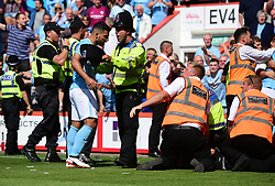 Sergio Aguero of Manchester City argues with a steward. - Mandatory by-line: Alex James/JMP - 26/08/2017 - FOOTBALL - Vitality Stadium - Bournemouth, England - Bournemouth v Manchester City - Premier League