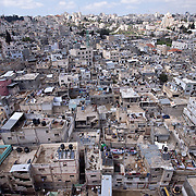 (03/26/11 West Bank)   The Al Amari Refugee Camp for Palestinians in  the town of Al Bireh on Jerusalem Road in the West Bank.    [WILLIE J. ALLEN JR.]