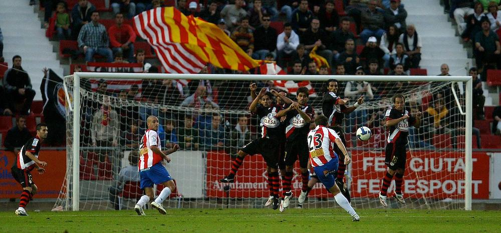 2008. November, 4th. Partido de segunda división A disputado entre el Girona F.C. como equipo local y el Rayo Vallecano..COPYRIGHT: TONI VILCHES FOTOGRAFIA.