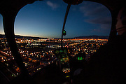 Helicopter flight over Las Vegas, Nevada