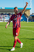 Ipswich Town defender Luke Chambers (4) acknowledges the fans after  the EFL Sky Bet League 1 match between Gillingham and Ipswich Town at the MEMS Priestfield Stadium, Gillingham, England on 21 September 2019.
