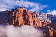Fresh snow on the Kolob Canyons, Zion National Park, Utah