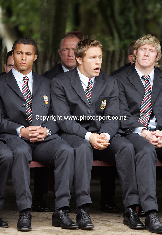 A tired Jonny Wilkinson at the Taurangawaewae Marae in Ngaruawahia, New Zealand on Saturday June 11, 2005. The Lions play the NZ Maori team tonight in Hamilton. Photo: Hannah Johnston/PHOTOSPORT