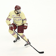 Isaac MacLeod #7 of the Boston College Eagles on the ice during The Beanpot Championship Game at TD Garden on February 10, 2014 in Boston, Massachusetts. (Photo by Elan Kawesch)