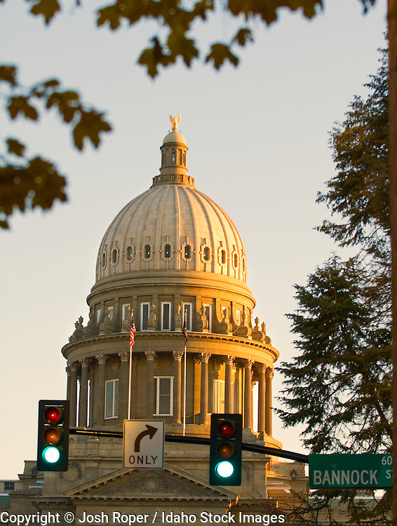 Idaho, Boise. The Capital Building in downtown Boise.