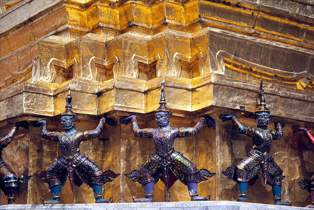 Detail of figures on the Grand Palace, Bangkok, Thailand. Image from the book project Man Eating Bugs: The Art and Science of Eating Insects.