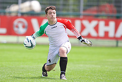 NEWPORT, WALES - Thursday, May 28, 2015: Central WPL Academy Boys' goalkeeper Adam Jones during the Welsh Football Trust Cymru Cup 2015 at Dragon Park. (Pic by David Rawcliffe/Propaganda)