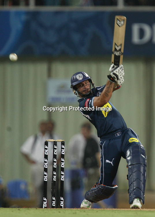 Deccan Chargers Batsman Herschelle Gibbs Hit The Shot Against  Mumbai Indians During The Deccan Chargers vs Mumbai Indians, 25th Twenty20 match Indian Premier League- 2009/10 season Played at Dr DY Patil Sports Academy, Mumbai 28 March 2010 - day/night (20-over match)