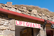 Chapel Porth Lifeguard sign