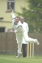 BOWLER ALEX PEARSON FINEDON AGAINST RAUNDS 26/6/04 Cricket Cricket