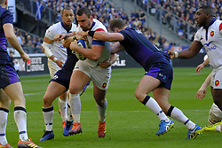 February 23, 2019 - Saint Denis, Seine Saint Denis, France - The number height of French Team LOUIS PICAMOLES in action during the Guinness Six Nations Rugby tournament between France and Scotland at the Stade de France - St Denis - France..France won 27-10 (Credit Image: © Pierre Stevenin/ZUMA Wire)