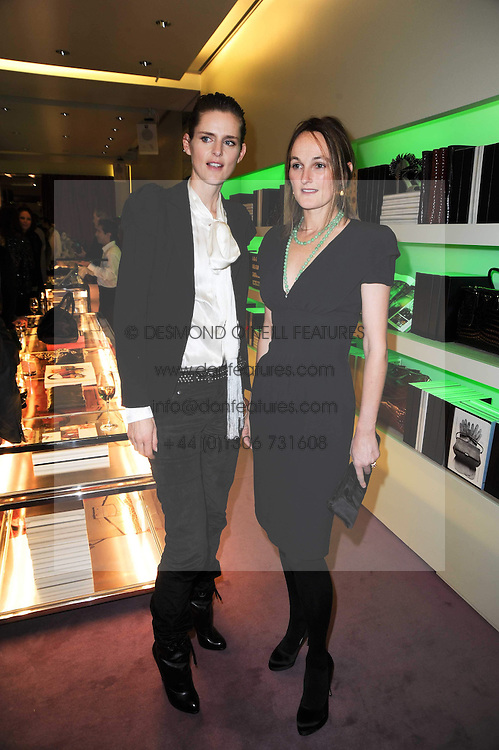 Left to right, STELLA TENNANT and the COUNTESS OF CAWDOR at a party hosted by Prada to celebrate launch of a book documenting the company's diverse projects in fashion, architecture, film and art held at their store 16/18 Old Bond Street, London on 19th November 2009.