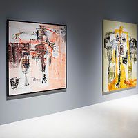 Group exhibition 'Embodied' with works from artists Du Zhenjun, Ho Tzu Nyen, Li Ming, Gatot Pujiarto, and Ben Quilty displayed at Pearl Lam Galleries on 06 November 2014, in Hong Kong, China. Photo by Victor Fraile / studioEAST