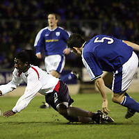 St Johnstone v Falkirk..15.01.05<br />Russell latapy goes down for a penalty after a challenge by Sean Webb<br />Picture by Graeme Hart.<br />Copyright Perthshire Picture Agency<br />Tel: 01738 623350  Mobile: 07990 594431