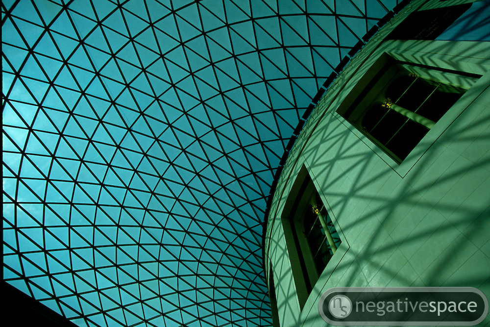Glass ceiling, British Museum, London, England