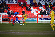 *** during the EFL Sky Bet League 1 match between Accrington Stanley and Fleetwood Town at the Fraser Eagle Stadium, Accrington, England on 30 March 2019.