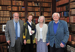 Nick and Mary Robinson pictured with Jennifer and Jeremy Altamount at Westport House on friday evening at the launch of Lord Altamount's memoir 'A Life at Westport House 50 Years A Going'.<br /> Pic Conor McKeown