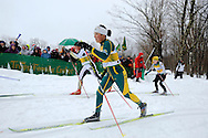 11 MAR 2011: Laura Rombach (25) of the University of Alaska - Anchorage during the women's 15km Classical Cross Country races at the 2011 NCAA Men and Women's Division I Skiing Championship held Stowe Mountain Resort and Trapp Family Lodge in Stowe, VT. Rombach finished 9th. ©Brett Wilhelm