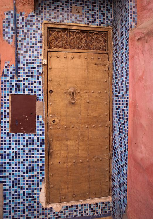 Colorful doorway, Marrakesh, Morocco