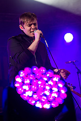 © Licensed to London News Pictures . 09/06/2013 . Heaton Park , Manchester , UK . Jonathan Higgs of Everything Everything performs . Day 2 of the Parklife music festival in Manchester on Sunday 9th June 2013 . Photo credit : Joel Goodman/LNP