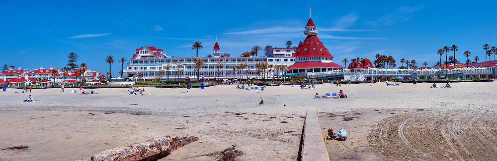 Hotel del Coronado, iconic red turrets, San Diego, California, Victorian, Architecture High dynamic range imaging (HDRI or HDR)