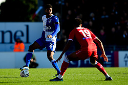 Mark Little of Bristol Rovers is marked by Recco Hackett-Fairchild of Bromley - Mandatory by-line: Ryan Hiscott/JMP - 10/11/2019 - FOOTBALL - Memorial Stadium - Bristol, England - Bristol Rovers v Bromley - Emirates FA Cup first round