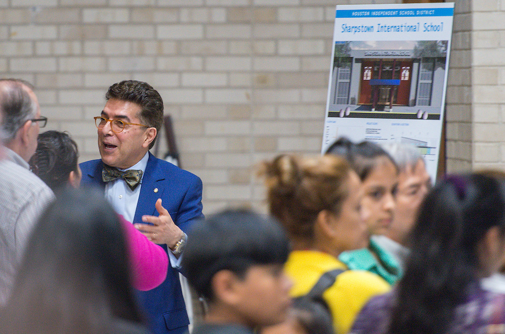 Bond community meeting at Sharpstown International School, October 6, 2015.