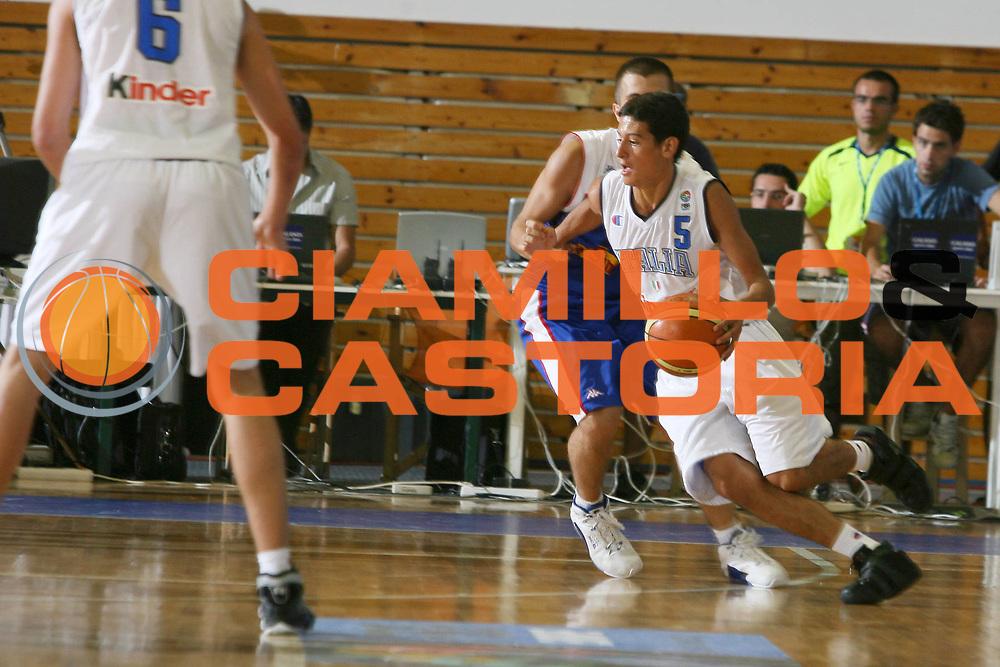 DESCRIZIONE : Amaliada Grecia Campionati Europei Under 18 European Championship Under 18 UMCOR<br /> GIOCATORE : Chessa<br /> SQUADRA : Italy Italia<br /> EVENTO : Amaliada Grecia Campionati Europei Under 18 European Championship Under 18 UMCOR<br /> GARA : Italia Italy Serbia &amp; Montenegro<br /> DATA : 26/07/2006 <br /> CATEGORIA :<br /> SPORT : Pallacanestro <br /> AUTORE : Agenzia Ciamillo-Castoria/E.Castoria<br /> Galleria : FIP Nazionale Italiana<br /> Fotonotizia : Amaliada Grecia Campionati Europei Under 18 European Championship Under 18 UMCOR<br /> Predefinita :