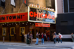 New York City, New York: Chicago Musical in the Theatre District  .Photo #: ny281-14772  .Photo copyright Lee Foster, www.fostertravel.com, lee@fostertravel.com, 510-549-2202.