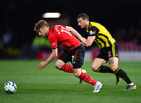 FOOTBALL - 2018 / 2019 Premier League - Watford vs Southampton<br /> <br /> Southampton's Stuart Armstrong holds off the challenge from Watford's Daryl Janmaat, at Vicarage Road.<br /> <br /> COLORSPORT/ASHLEY WESTERN