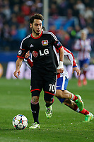 Bayer 04 Leverkusen´s Calhanoglu during the UEFA Champions League round of 16 second leg match between Atletico de Madrid and Bayer 04 Leverkusen at Vicente Calderon stadium in Madrid, Spain. March 17, 2015. (ALTERPHOTOS/Victor Blanco)