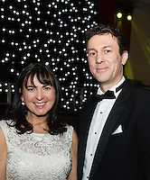 MC's for the night Trisha Murphy, SCCUL Sanctuary Manager and Brian Duffy, Tri Everest Wealth Management   at Choir Factor in the Radisson Blu.<br /> Choir Factor is a fundraiser for The Sccul Sanctuary, Therapeutic Support Centre in Kilcornan Clarenbrdge.<br /> <br />  Photo:Andrew Downes, xposure.