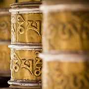 Prayer wheels at Chemrey Monastery, Ladakh, India