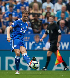 Jonny Evans of Leicester City in action - Mandatory by-line: Jack Phillips/JMP - 18/08/2018 - FOOTBALL - King Power Stadium - Leicester, England - Leicester City v Wolverhampton Wanderers - English Premier League
