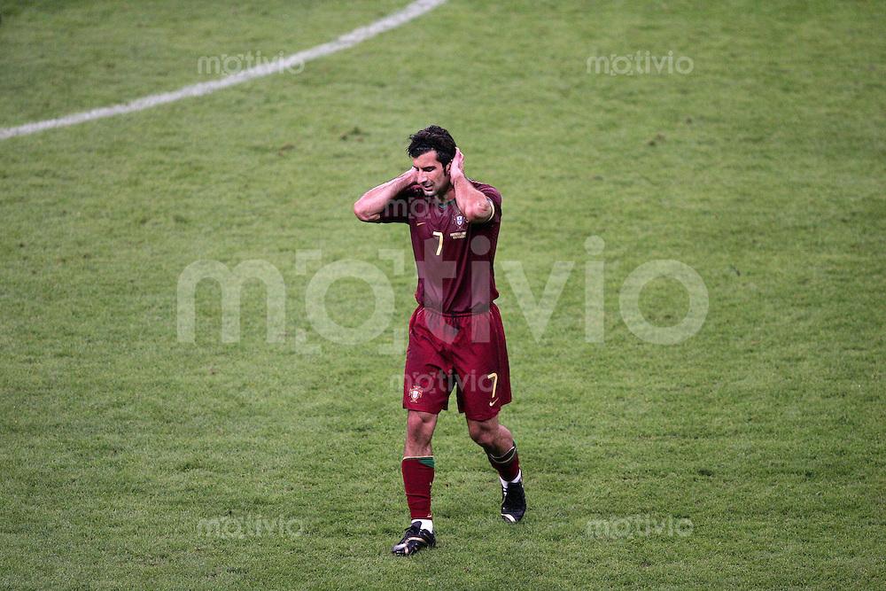 Fussball WM 2006 Viertelfinale  Portugal - Frankreich Luis FIGO (POR)
