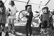 Young boy playing Bodhran.Tofu Love Frogs, Glastonbury, 1993.
