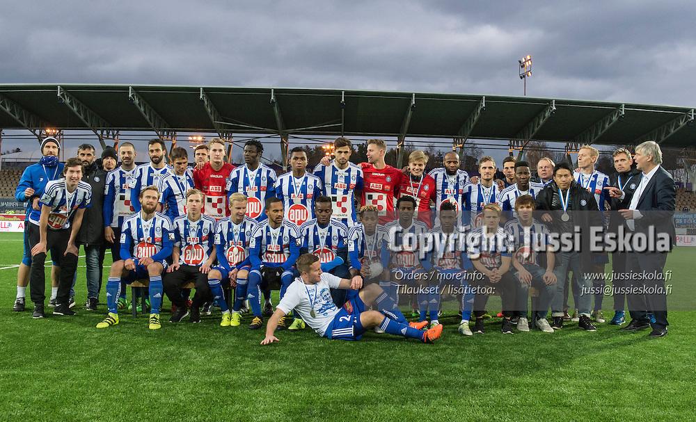 Hopeajoukkue HJK. HJK - SJK. Veikkausliiga. Helsinki. 23.10.2016. Photo: Jussi Eskola
