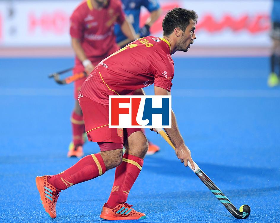 Odisha Men's Hockey World League Final Bhubaneswar 2017<br /> Match id:11<br /> Argentina v Spain<br /> Foto: Miguel Delas (Esp) <br /> COPYRIGHT WORLDSPORTPICS FRANK UIJLENBROEK
