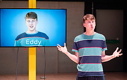 Edinburgh, Scotland, UK; 21 August, 2018. The End of Eddy play performed by the Unicorn Theatre at The Studio theatre in Edinburgh. This new stage adaptation of Edouard Louis's acclaimed autobiographical novel En Finir avec Eddy Bellegueule and tells the unflinching   story of a boy growing up in poverty. Director Stewart Laing.