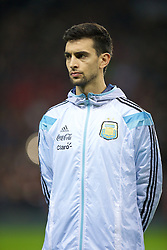 MANCHESTER, ENGLAND - Tuesday, November 18, 2014: Argentina's Javier Pastore before the International Friendly match against Portugal at Old Trafford. (Pic by David Rawcliffe/Propaganda)