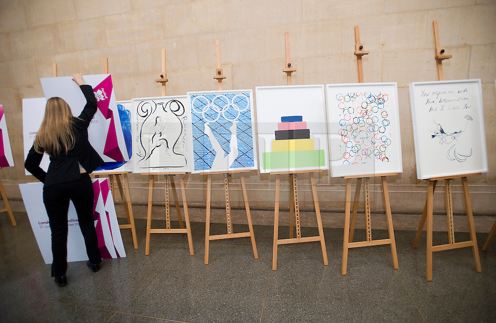 © London News Pictures. 04/11/2011. London, UK. The unveiling of the official Olympic and Paralympic posters for the London 2012 games by some of the UK's leading artists at The Tate Britain Gallery in London, UK today (04/11/2011). Photo Credit : Ben Cawthra/LNP