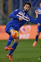 Mattia Cassani Sampdoria <br /> Roma 07-02-2016 Stadio Olimpico, Football Calcio 2015/2016 Serie A. AS Roma - Sampdoria . Foto Andrea Staccioli / Insidefoto