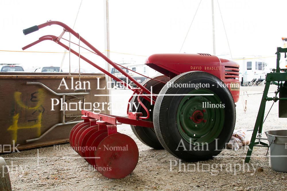 01 August 2014:   McLean County Fair.  David Bradley walk behind disc at the antique tractor display.