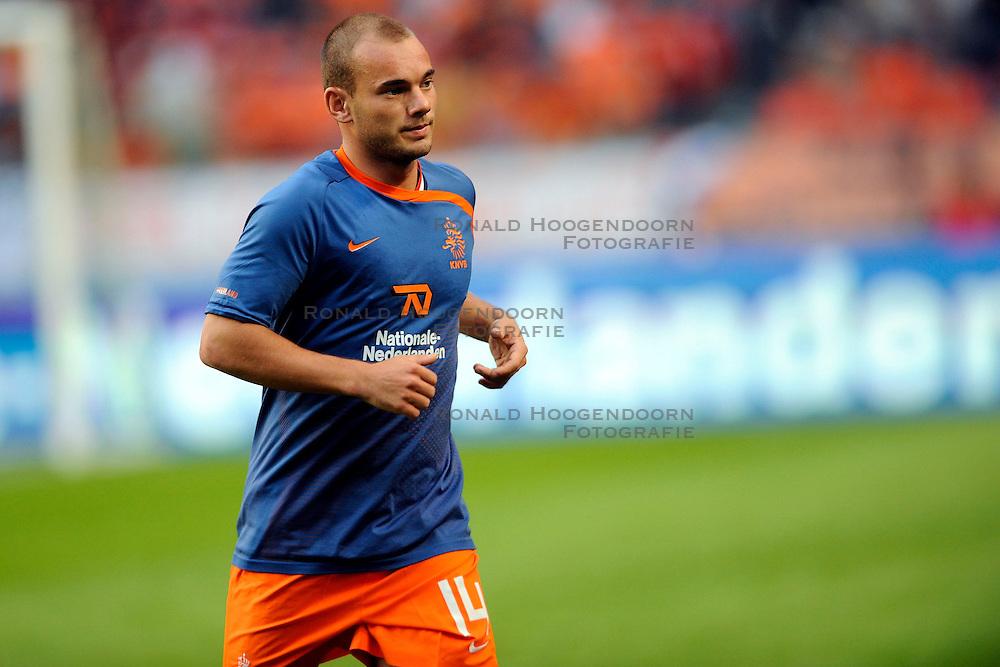 12-08-2009 VOETBAL: NEDERLAND - ENGELAND: AMSTERDAM<br /> Nederland speelt met 2-2 gelijk tegen Engeland / Wesley Sneijder<br /> &copy;2009-WWW.FOTOHOOGENDOORN.NL