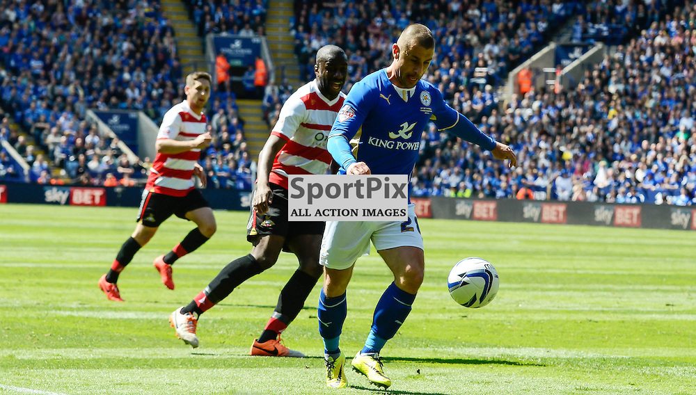 Kevin Phillips in his last ever game, Leicester v Doncaster Rovers, Sky Bet Championship, 3 May 2014, (c) Simon Kimber | SportPix.org.uk
