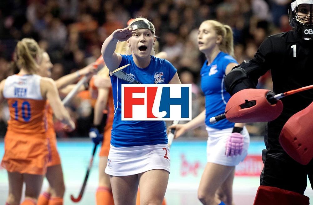 BERLIN - Indoor Hockey World Cup<br /> Quarterfinal 4: Netherlands - Czech Republic<br /> foto: LACINA Katerina.<br /> WORLDSPORTPICS COPYRIGHT FRANK UIJLENBROEK